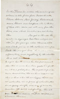 Autographs:U.S. Presidents, Abraham Lincoln: Important Autograph Manuscript Page. Twenty-threelines in Lincoln's own handwriting from his last State of t...