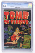Golden Age (1938-1955):Horror, Tomb of Terror #3 File Copy (Harvey, 1952) CGC VF 8.0 Light tan tooff-white pages....