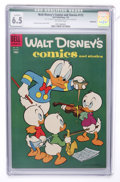 Golden Age (1938-1955):Cartoon Character, Walt Disney's Comics and Stories #172 (Dell, 1955) CGC QualifiedFN+ 6.5 Off-white pages....