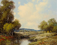 A. D. GREER (American, 1904-1998) Landscape Oil on canvas 16 x 20 inches (40.6 x 50.8 cm) Sign