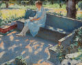 American:Impressionism, The Hon. Paul H. Buchanan, Jr. Collection. ANNIE HURLBURT JACKSON(American, 1877-1960). Dappled Sunlight. Watercolor ...