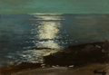 Paintings, The Hon Paul H. Buchanan, Jr. Collection. FREDERICK JUDD WAUGH (American, 1861-1940). Moonlight on the Sea. Oil on boa...