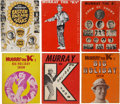 Music Memorabilia:Memorabilia, Murray the K Vintage Set Of Six Program Books.... (Total: 6 )