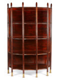 Furniture , A VIENNESE BENTWOOD AND METAL BOOKSHELF. Circa 1900. 70 x 45 x 18 inches (177.8 x 114.3 x 45.7 cm). ...