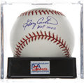 Autographs:Baseballs, Gary Carter Single Signed Baseball PSA Gem Mint 10. ...