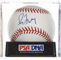 Autographs:Baseballs, Greg Maddux Single Signed Baseball PSA Mint 9. ...