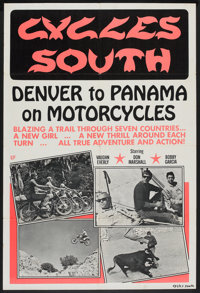 """Cycles South (Dal Arts, 1971). One Sheet (27"""" X 41""""). Documentary"""