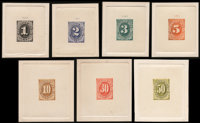 Postage Dues, 1879, 1c - 50c Large Die Trial Color Proofs (J1-7TC1)