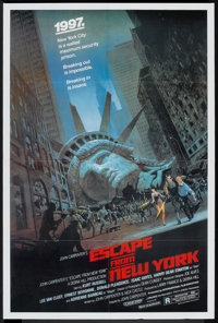 """Escape from New York (Avco Embassy, 1981). One Sheet (27"""" X 41""""). Action"""