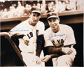 Autographs:Photos, Ted Williams and Joe DiMaggio Dual-Signed Oversized Photograph. ...
