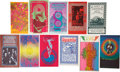 Music Memorabilia:Posters, Grande Ballroom and Others Concert Postcard Group (Russ Gibb, 1967-68).... (Total: 11 Items)