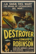 "Movie Posters:War, Destroyer (Columbia, 1943). Spanish One Sheet (27"" X 41""). War....."