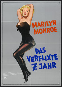 """The Seven Year Itch (20th Century Fox, R-1973). German A1 (23.5"""" X 33""""). Comedy"""