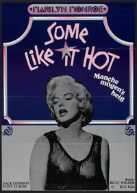 "Some Like It Hot (RCS Films, R-1970s). German A1 (23.5"" X 33""). Comedy"