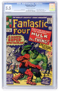 Silver Age (1956-1969):Superhero, Fantastic Four #25 (Marvel, 1964) CGC FN- 5.5 Off-white to white pages....