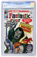 Silver Age (1956-1969):Superhero, Fantastic Four Annual #2 (Marvel, 1964) CGC FN+ 6.5 Off-white to white pages....