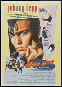 "Cry-Baby (United International, 1990). Spanish One Sheet (27"" X 40""). Comedy"
