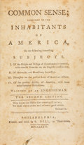 Books:Non-fiction, [Thomas Paine]. Common Sense; Addressed to theInhabitants of America, On the Following Interesting Subjects ...W...
