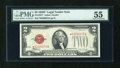 Small Size:Legal Tender Notes, Fr. 1507* $2 1928F Legal Tender Note. PMG About Uncirculated 55.. ...