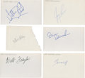 Basketball Collectibles:Others, Circa 1972-73 New York Knicks Signed Index Cards Lot of 6....