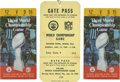 Football Collectibles:Tickets, 1969 Super Bowl III Ticket Stubs (2), Gate Pass & Jets Season Schedule....