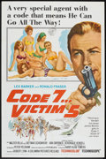 "Movie Posters:Action, Code 7, Victim 5 (Columbia, 1964). One Sheet (27"" X 41""). Action.. ..."