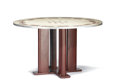 Furniture : French, JEAN PROUVÉ AND JULES LELEU. A Painted Steel Table, circa 1935. 29x 49 x 49 inches (73.7 x 124.5 x 124.5 cm). ...