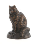 Fine Art - Sculpture, European:Modern (1900 - 1949), A FRENCH BRONZE CAT AND MOUSE. Cast after the model by Antoine Louis-Barye (French, 1796-1875). Impressed on base: Barye...