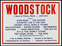 "Woodstock (Warner Brothers, 1970). British Quad (30"" X 40""). Rock and Roll"