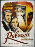 """Movie Posters:Hitchcock, Rebecca (Les Acacias Cine Audience, R-1990s). French Grande (47"""" X 63""""). Hitchcock.. ..."""