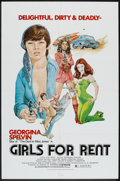 """Movie Posters:Sexploitation, Girls For Rent (Independent International Pictures, 1974). One Sheet (27"""" X 41""""). Sexploitation.. ..."""