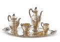 Silver Holloware, French:Holloware, JEAN PUIFORCAT. A Silver Plated Coffee and Tea Service, circa 1900.Marks: EP within diamond. 10-3/4 inches (27.3 cm) hi...