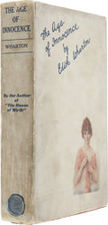 Books:First Editions, Edith Wharton. The Age of Innocence. New York: D. Appleton,1920.. First edition....