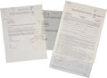 Music Memorabilia:Documents, Laura Nyro Related Agreements.... (Total: 3 Items)