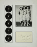 Music Memorabilia:Autographs and Signed Items, Maxene Andrews Autograph with Andrews Sisters Mini Records....