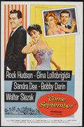 "Movie Posters:Comedy, Come September (Universal, 1961). One Sheet (27"" X 41""). Comedy.. ..."