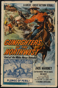 """Gunfighters of the Northwest (Columbia, 1954). One Sheet (27"""" X 41""""). Chapter 7 -- """"Plunge of Peril""""..."""