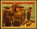 "Movie Posters:War, The Fighting 69th Lot (Warner Brothers, 1940). Lobby Card (11"" X14"") and Pressbooks (2) (Multiple Pages). War.. ... (Total: 3Items)"