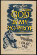 """Movie Posters:War, God Is My Co-Pilot (Warner Brothers, 1945). One Sheet (27"""" X 41"""").War.. ..."""