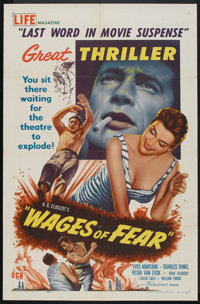 "Wages of Fear (DCA, 1955). One Sheet (27"" X 41""). Thriller"