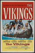 "Movie Posters:Action, The Vikings (United Artists, 1958). One Sheet (27"" X 41""). Action....."