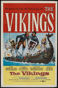 "The Vikings (United Artists, 1958). One Sheet (27"" X 41""). Action"