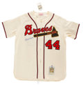 Autographs:Jerseys, Hank Aaron Signed Jersey. ...