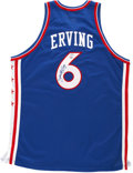 Basketball Collectibles:Uniforms, Julius Erving Signed Jersey. ...