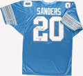 Football Collectibles:Uniforms, Barry Sanders Signed Jersey. ...