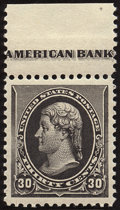 Stamps, 30c Black (228),... (Total: 1 Slab)