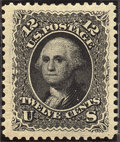 Stamps, 12c Black, Re-Issue (107),... (Total: 1 Slab)