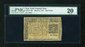 Colonial Notes:New York, New York March 5, 1776 $1/2 PMG Very Fine 20....
