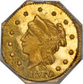 California Fractional Gold, 1870 25C Liberty Octagonal 25 Cents, BG-758, R.8, MS64 PCGS....