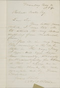 "Autographs:Authors, Harriet Beecher Stowe Autograph Letter Signed ""H B Stowe"".One page, 5"" x 8"", November 3, 1884, n.p., to an unnamed reci..."